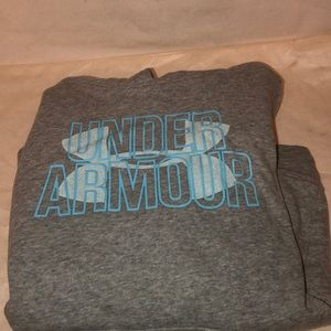 Girls under armour pull over hoodie